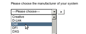 Choose manufacturer